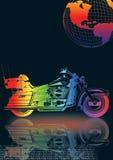motocicleta com globo Ilustração Royalty Free