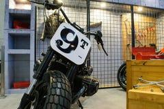 Motocicleta con las herramientas en el 36.o salón del automóvil internacional 2015 de Bangkok Fotografía de archivo