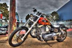 Motocicleta construida americana pintada aduana de Harley Davidson Foto de archivo libre de regalías