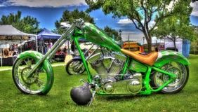 Motocicleta creada para requisitos particulares Imágenes de archivo libres de regalías