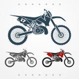 Motocicleta cruzada stock de ilustración