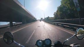 Motocicleta da equitação do POV video estoque