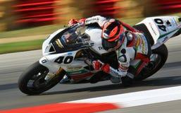 Motocicleta da raça de Triumph Fotografia de Stock Royalty Free