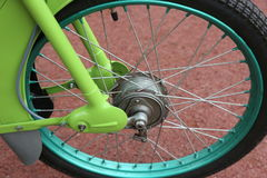 Motocicleta da roda Fotografia de Stock