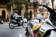 Motocicleta da rua de Vietname Hanoi do velomotor Fotografia de Stock