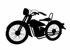 Motocicleta da sombra Fotos de Stock