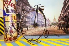 Motocicleta de alta velocidad retra, el objeto expuesto del museo histórico, Rusia, Ekaterinburg, 04 03 2017 años Fotografía de archivo libre de regalías