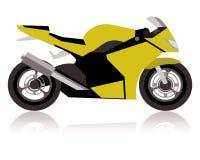 Motocicleta de competência abstrata Fotografia de Stock