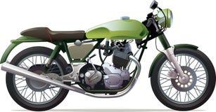 Motocicleta de competência clássica Fotografia de Stock