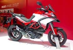 Motocicleta 2013 de Ducati na exposição. Fotos de Stock Royalty Free