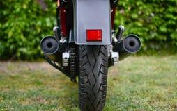 A motocicleta de Kawasaki GPZ 900 do filme de Top Gun fotografou exterior no parque Fotografia de Stock
