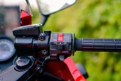 A motocicleta de Kawasaki GPZ 900 do filme de Top Gun fotografou exterior no parque Imagens de Stock