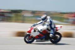 Motocicleta de la falta de definición Fotografía de archivo