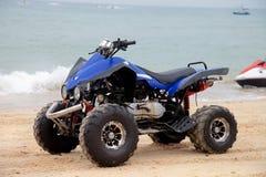 Motocicleta de la playa Fotos de archivo