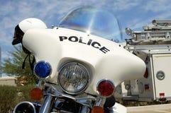 Motocicleta de la policía. Foto de archivo libre de regalías