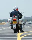 Motocicleta de la policía Imágenes de archivo libres de regalías