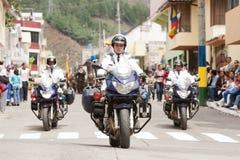 Motocicleta de la policía Imagen de archivo libre de regalías