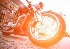 Motocicleta de la rueda Fotos de archivo