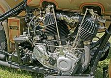 Motocicleta de la vendimia Imagen de archivo libre de regalías
