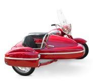Motocicleta de la vendimia con el coche lateral Fotos de archivo libres de regalías
