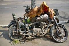 Motocicleta de los desperdicios foto de archivo libre de regalías