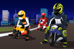 Motocicleta de montada dos povos Imagem de Stock Royalty Free