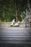Motocicleta de París Fotografía de archivo libre de regalías