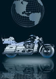 motocicleta de prata   Ilustração do Vetor