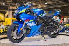 Motocicleta 2015 de Suzuki GSX-R1000 Imagen de archivo libre de regalías