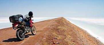 Motocicleta de Ventana del La Imagenes de archivo