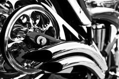 Motocicleta del cromo foto de archivo libre de regalías