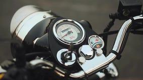 Motocicleta del dial del tablero de instrumentos de la motocicleta metrajes