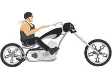 Motocicleta del interruptor con el motorista Imagen de archivo