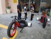 Motocicleta del trike de la deriva Foto de archivo