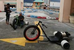 Motocicleta del trike de la deriva Foto de archivo libre de regalías