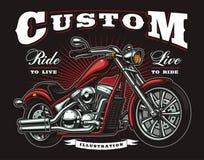 Motocicleta del vintage Imagen de archivo libre de regalías