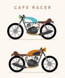 Motocicleta del vintage ilustración del vector