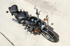 Motocicleta del vintage desde arriba Fotografía de archivo