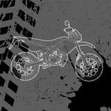 Motocicleta dibujada por contorno Imágenes de archivo libres de regalías