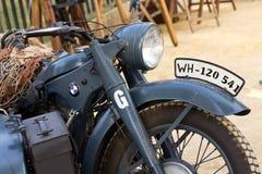Motocicleta do alemão da segunda guerra mundial Fotos de Stock