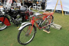 Motocicleta do americano do vintage Fotografia de Stock Royalty Free