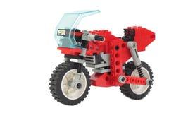 Motocicleta do brinquedo de Lego Imagens de Stock