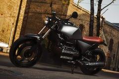 motocicleta do Café-piloto fotografia de stock