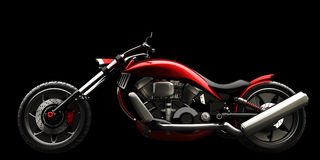 Motocicleta do conceito isolada Fotos de Stock