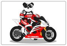 Motocicleta do estilo de vida da panda imagem de stock royalty free