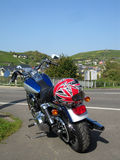 Motocicleta do estilo do cruzador Fotografia de Stock Royalty Free