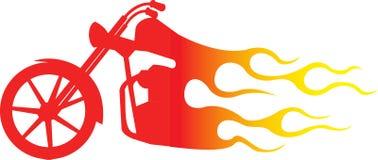Motocicleta do interruptor inversor no incêndio Fotografia de Stock Royalty Free
