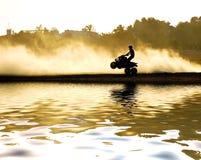 Motocicleta do quadrilátero Fotos de Stock Royalty Free