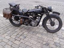 Motocicleta do vintage fotografia de stock