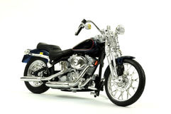 Motocicleta do vintage isolada no branco Fotografia de Stock Royalty Free